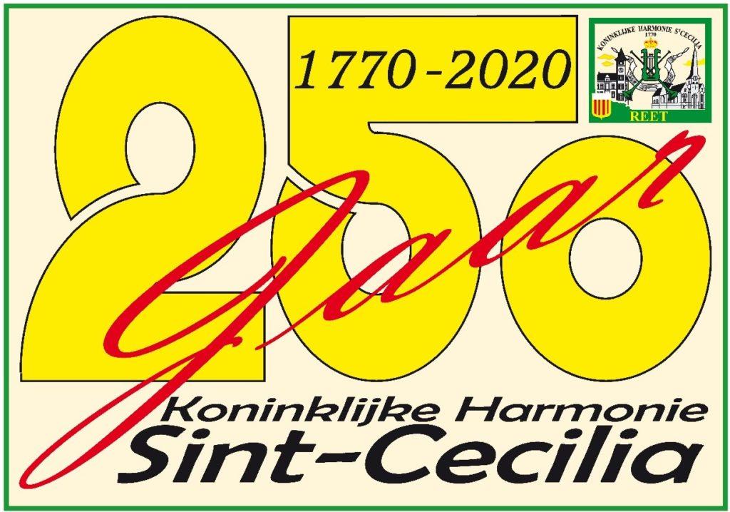 logo 250 jaar Sint-Cecilia Reet