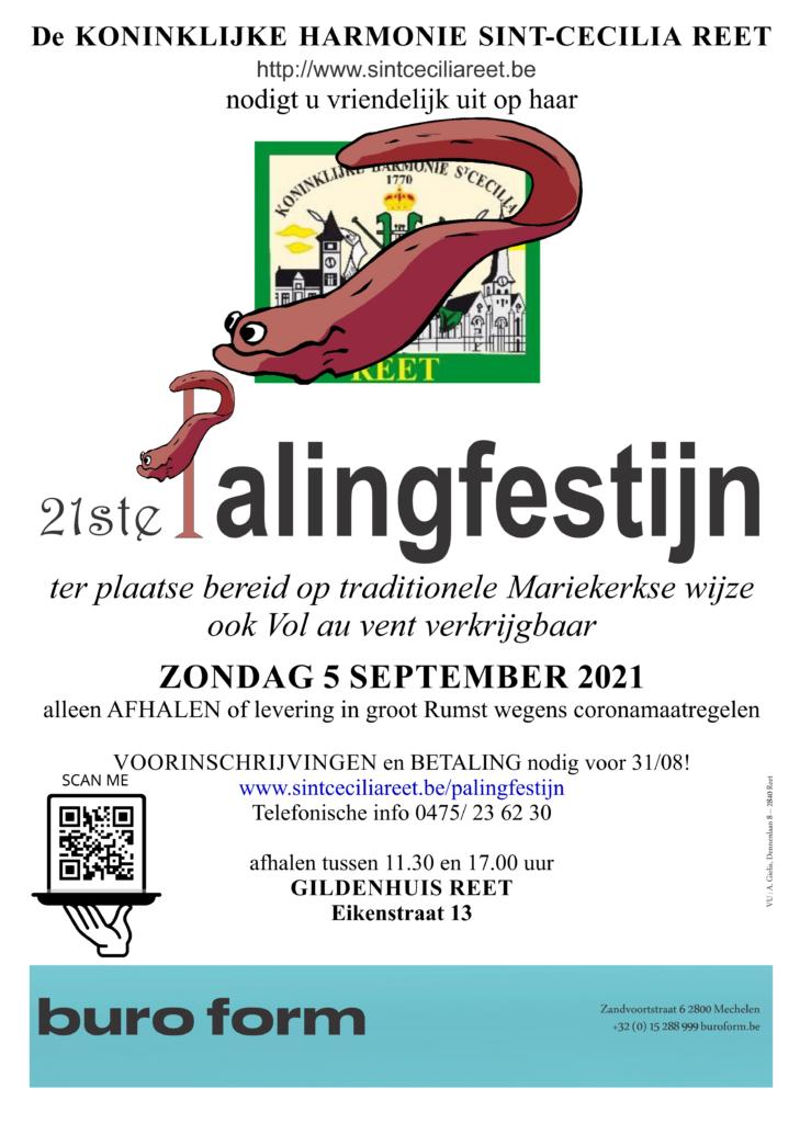 Affiche Palingfestijn 2021